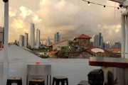Panama City Skyline from Rooftop Bar